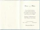 Invitación abierta portada en relieve color de papel crema