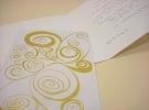 Invitación con ilustración escrita a mano