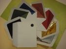 Sobres forrados en tela papel y papel efecto metálico de distintos formatos